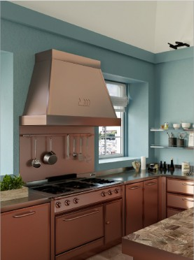 Bespoke Kitchens - Satin Copper and Glossy Copper