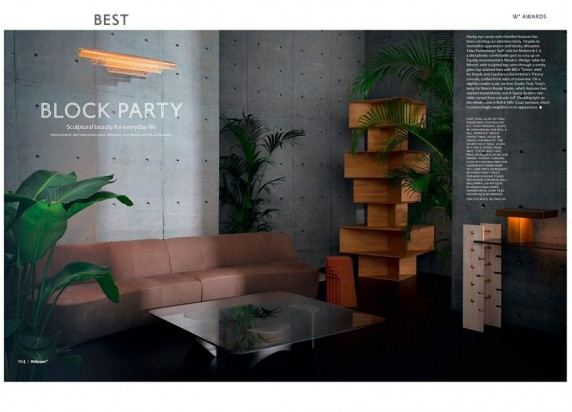 "Totem Shelf di Driade vince il premio ""Best Block Party"" di @wallpapermag"