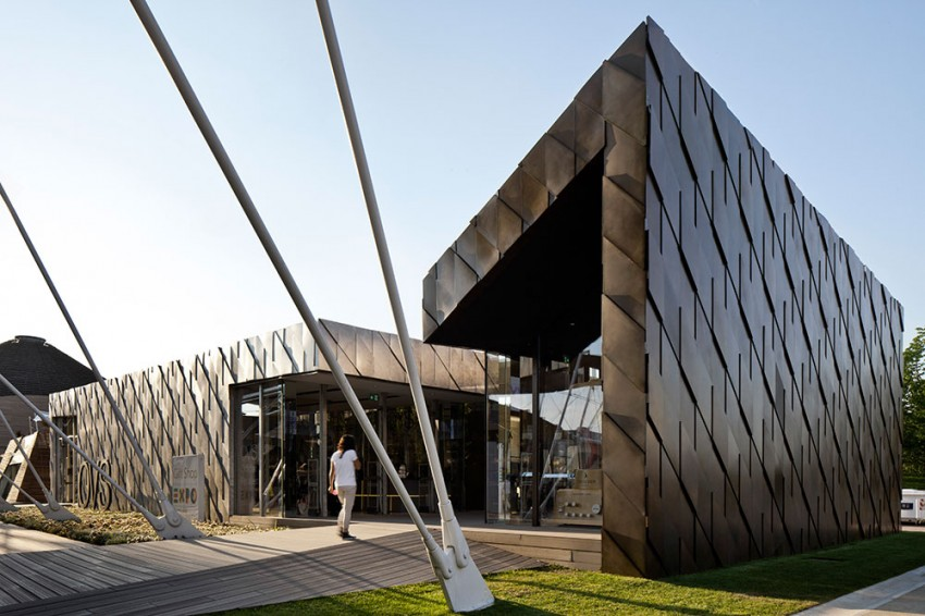 De Castelli: Metal Covering for OVS & Excelsior Milano, Expo Milano 2015